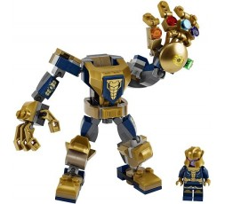 LEGO Marvel Avengers Thanos Action Building Toy with Thanos Minifigure