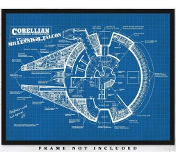 Star Wars Millenium Falcon Blue Print